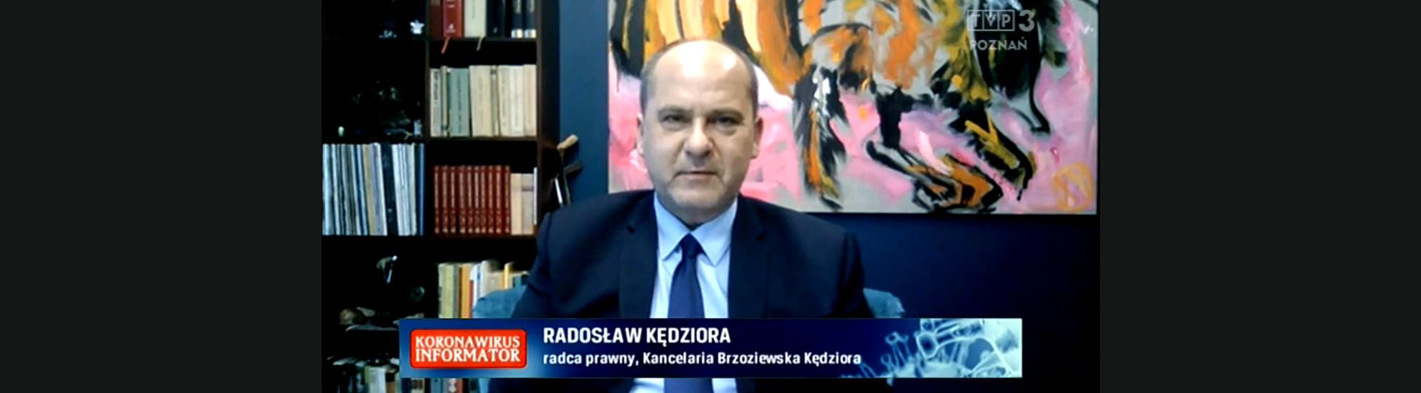 "Porady prawne dla programu TVP3 ""Koronawirus – Informator"""